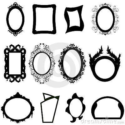 Mirror silhouettes set