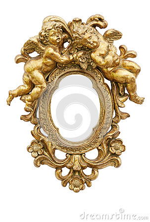 Free Mirror With Angels Royalty Free Stock Image - 30424926