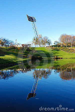 Free Mirrored Floodlight Mast Stock Images - 1668544