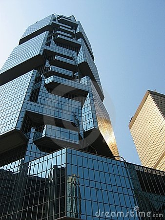 Mirrored Office Building