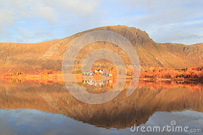 Mirrors of  a Lofotens  fjord