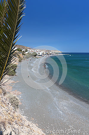 Mirtos beach at Crete island in Greece