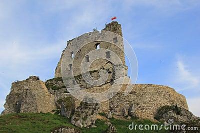 Mirów castle ruins poland.