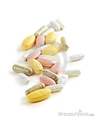 Mischung der Vitamine