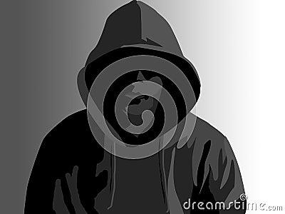 Misdadiger met een kap