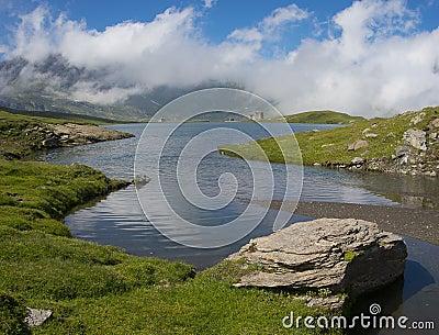 Miserin lake in Champorcher valley
