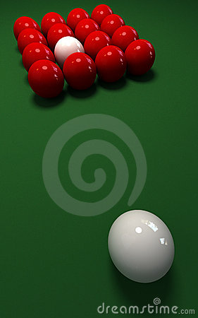 Misplaced  cue ball