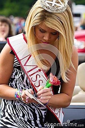 Miss America Editorial Photo