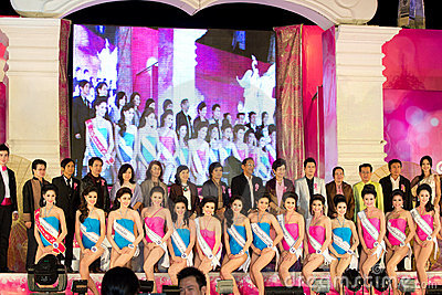 Miss Chiangmai 2012 Editorial Stock Photo