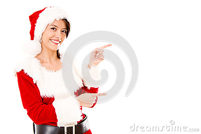 Miss Claus presenting something