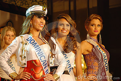 Miss dominican,bolivia , ecuador Editorial Stock Image