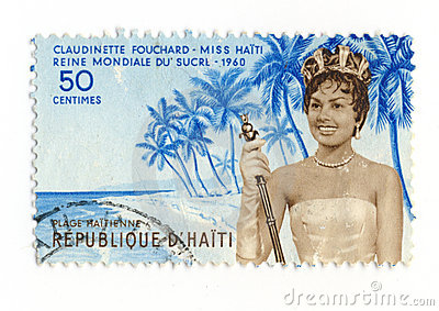 Miss Haiti 1960 stamp