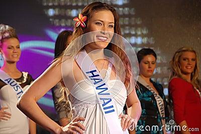 Miss hawaii Editorial Image