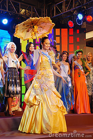 Miss philippines wearing National costume Editorial Photography