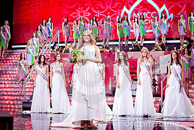 Miss Russia 2010 beauty contest Editorial Photo
