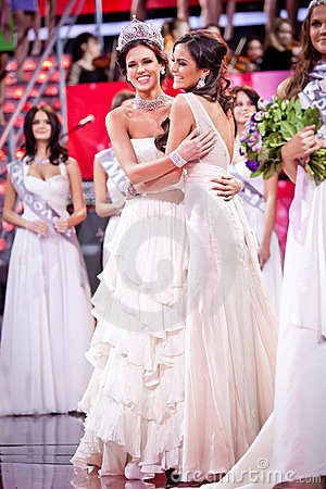 Miss Russia 2010 beauty contest Editorial Stock Photo