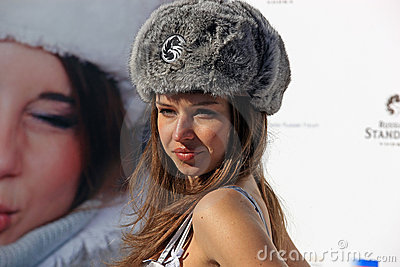 Miss Russia finalists 2008 in St. Moritz Editorial Photo