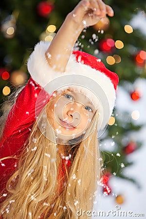 Miss santa with snow