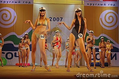 Miss Tourism World Russia-Sochi 2007 Editorial Photography