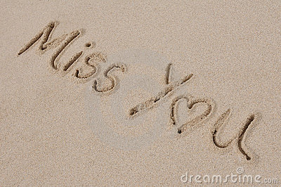 Miss You Written in Sand