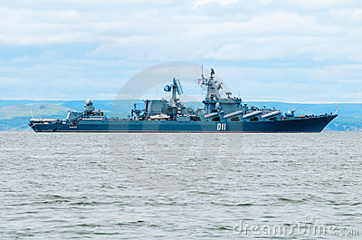 Missile cruiser Editorial Stock Image