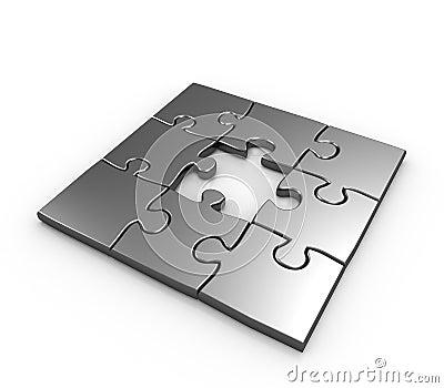 Missing piece puzzle concept