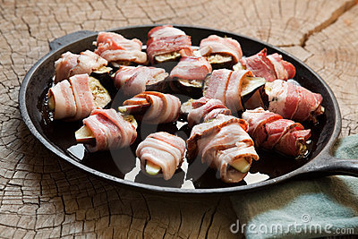 Mission figs wrapped in bacon