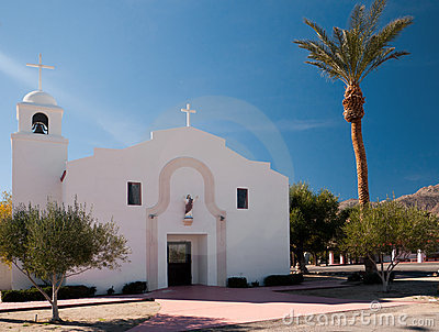 Mission style church in Borrego Springs
