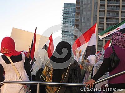 Протест Mississauga h Египта Редакционное Фотография