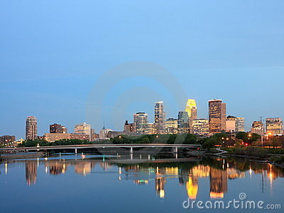 Mississippi and downtown Minneapolis