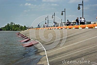 Mississippi River flood preparation Editorial Image