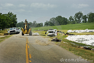Mississippi River Flood Prevention Editorial Stock Image