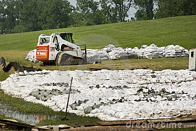Mississippi River Flood Prevention Editorial Image