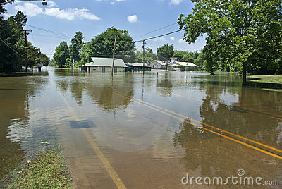 Mississippi River flood - St. Francisville Editorial Photo