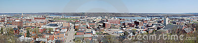 Dubuque Iowa Mississippi River Panorama Editorial Stock Image