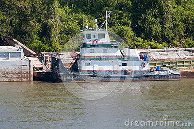Missouri River tugboat