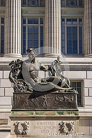 Missouri State Capital Statue Editorial Stock Image