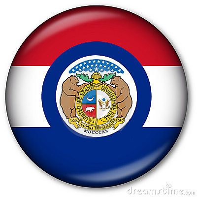Missouri State Flag Button