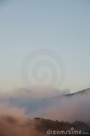 Mist in the mountain