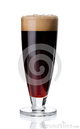 Free Misted Glass Of Red Beer On White Stock Image - 87368291