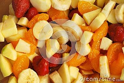 Mistura das frutas