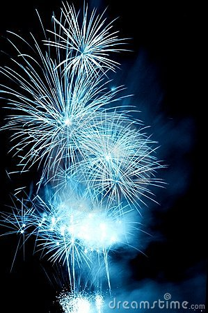 Misty blue Firework