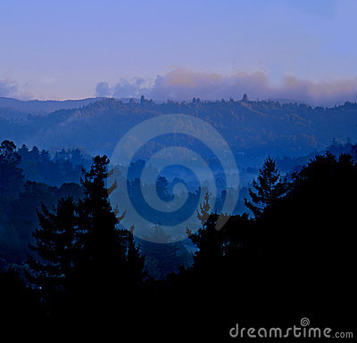 Misty Blue Mountains Royalty Free Stock Images - Image: 1741719