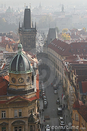 Misty day in Prague