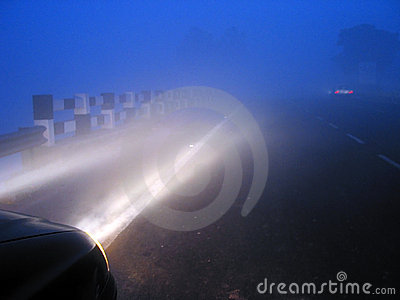 Misty foggy highways in india