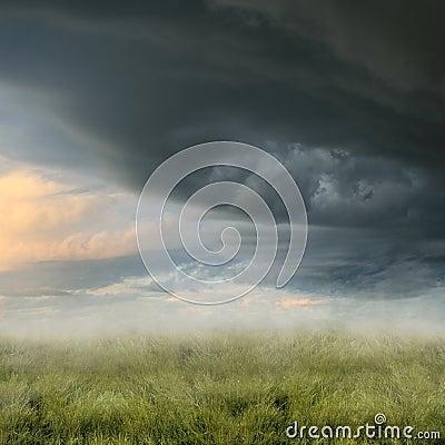 Free Misty Landscape Stock Image - 8121041