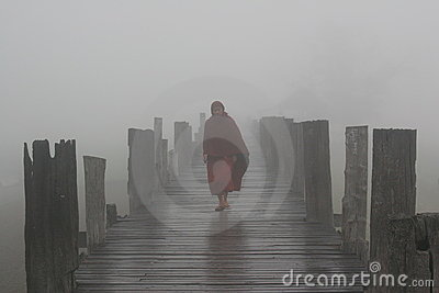 Misty morning bridge Editorial Stock Photo