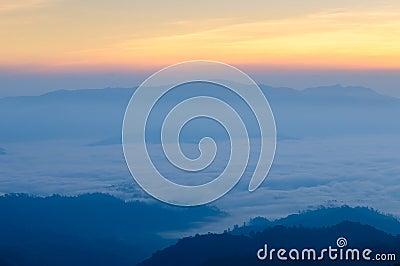 Misty Mountain at morning, Huay nam dang,Thailand