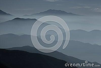 Misty ridges