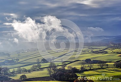 Misty rolling Countryside near Staveley